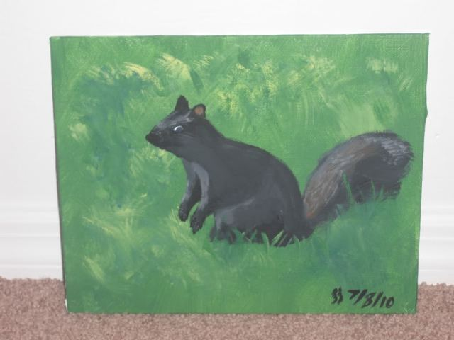 Not bad for a third attempt... but not good enough for me to decided to bother painting a fourth picture.