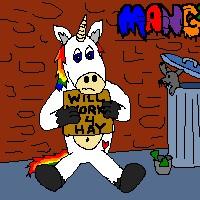 rainbow donkey bum