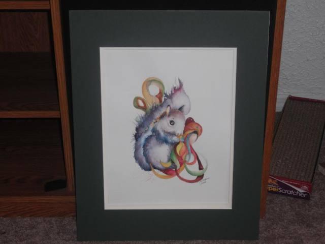 impressionistic squirrel
