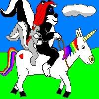 rainbow donkey rides again