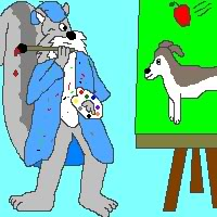 evil squirrel artist
