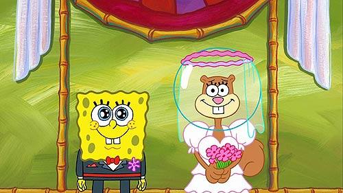 sandy spongebob wedding