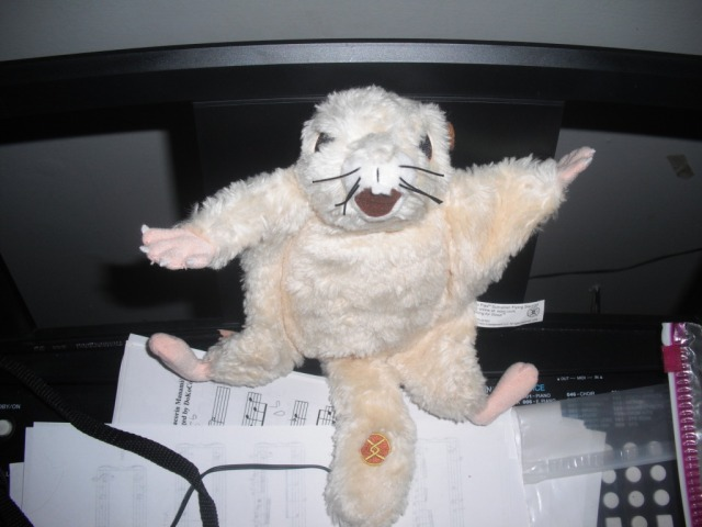 Along with Winnie the Sumatran Flying Squirrel, who one of my message board friends sent me!