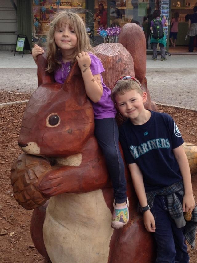 red squirrel statue sweden
