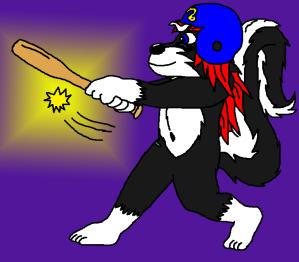 batting skunk