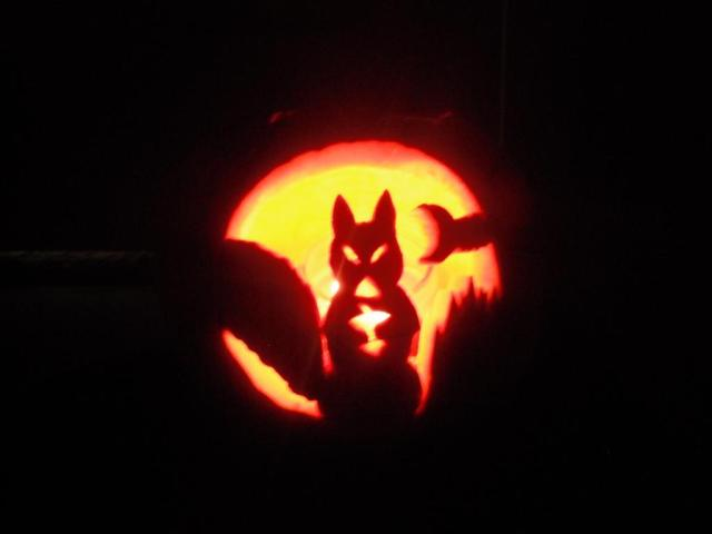 halloween squirrel