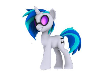 The Vinyl Scratch icon that appears in my comics.