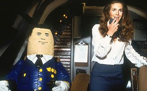 Attention passengers!  Do not be alarmed at the hissing sound, your pilot is merely inflating.