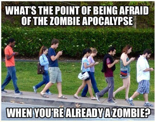 The zombies aren't paying any attention to the election anyway...