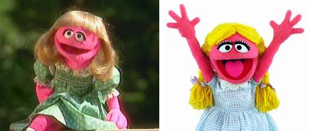 The wild girls of Sesame Street.