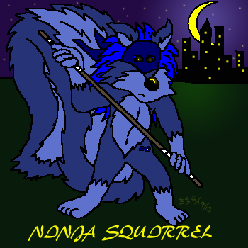 Ninja Squirrel is looking to go all martial arts on some of the morons using Google.