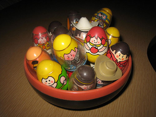 Happiness is a bowl full of Weebles.