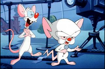 """What do you wanna do tonight Brain?""  ""The same thing we do every night, Pinky.  Sing Karaoke."