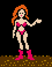 Who has time to look at their nails when they could be ogling over Samus' sexy bikini in Metroid?