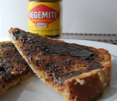 Excuse me, I asked you to please hold the Vegemite!