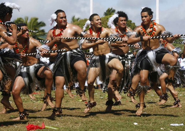 Native Tongans doing the happy dance for my new character Wiki.