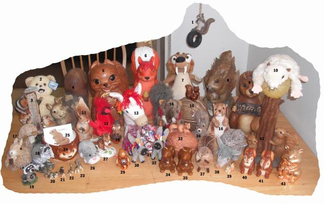 critter collection numbered