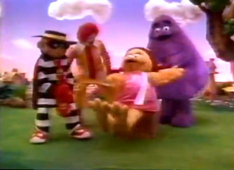 This is either a normal day in McDonaldland, or the start of a very bad porn flick...
