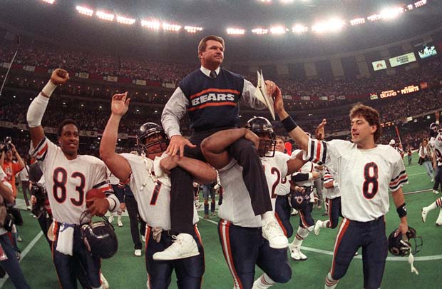 You just just see the thrill of victory in Mike Ditka's face...