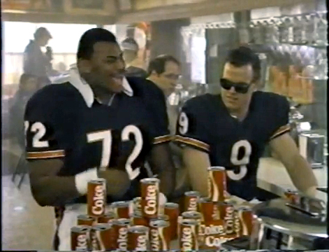 Jim McMahon, The Fridge, and New Coke.  It doesn't get any more 80's than that...