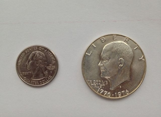 Always bend at the knees when picking up an Eisenhower dollar off the ground.
