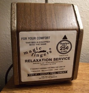 Players Club members only need to insert 15 cents for the vibrating bed.