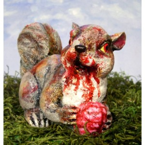 Zombie squirrel is getting hungry....