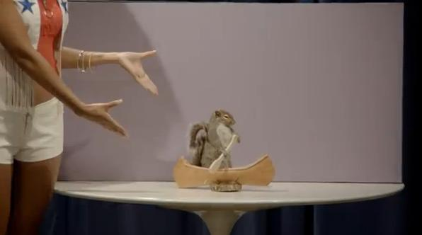 Some may see a Zonk, I see an adorable squirrel in a canoe!