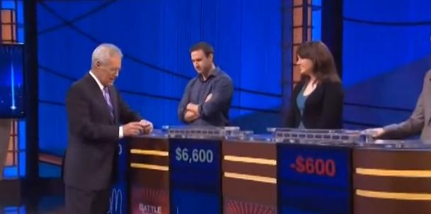 It says here on your blue card that you like to stall on game shows so that your opponents don't have enough time to make up a $7,200 deficit...