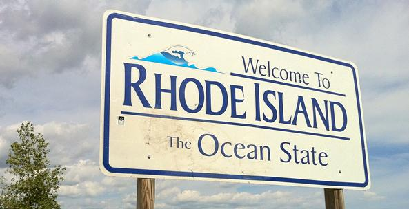 By the time you read the sign, you've already come to the Thank You For Visiting Rhode Island sign.