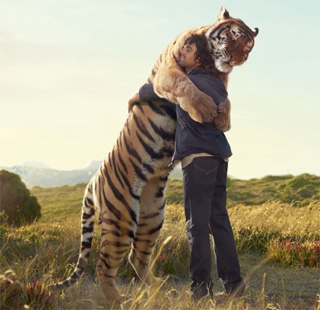 Sorry, but this is the only kind of manhugging that's socially allowed.