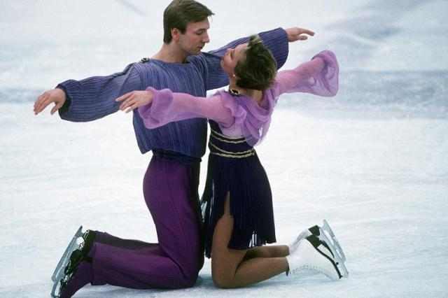Has anyone ever ice danced to cheesy porn music before?