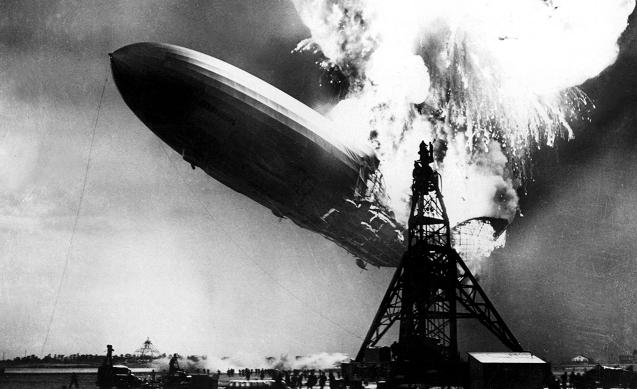 I couldn't find an image of Mr. Limbaugh, but this picture of an exploding dirigible is pretty close.
