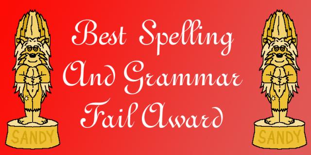 award grammar