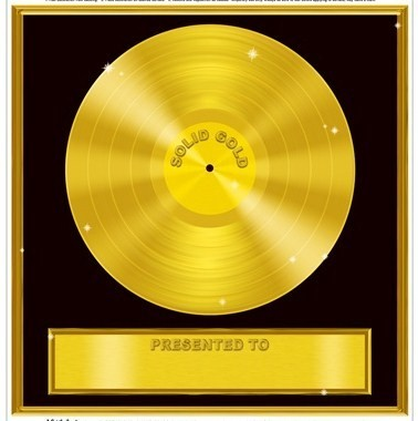 Apparently, the song itself is not even worth gold, let alone more than it.