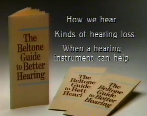 The graphic designer for the Beltone Guide To Better Hearing pamphlet has many, many impairments beyond just hearing.
