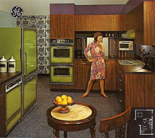 Don't laugh.  Unlike the crap they make today, those hideous looking appliances are probably still working.