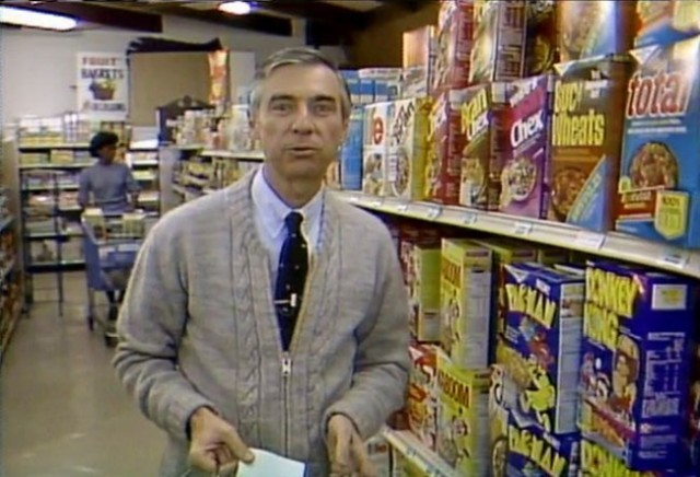 Even Mr. Rogers can't resist the lure of video game cereal.