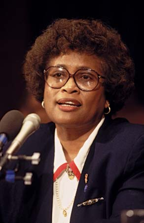 Former Surgeon General Jocelyn Elders was about the only person who knew how to appreciate a one-man act.