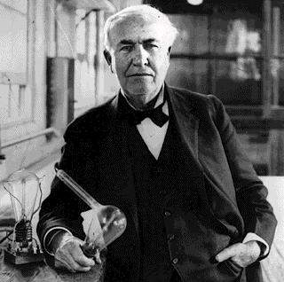 What did people have appear above their heads when they had an idea before Edison invented the light bulb?