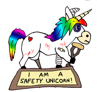 The Safety Unicorn Award. Just touching it will take 10 years off your life.