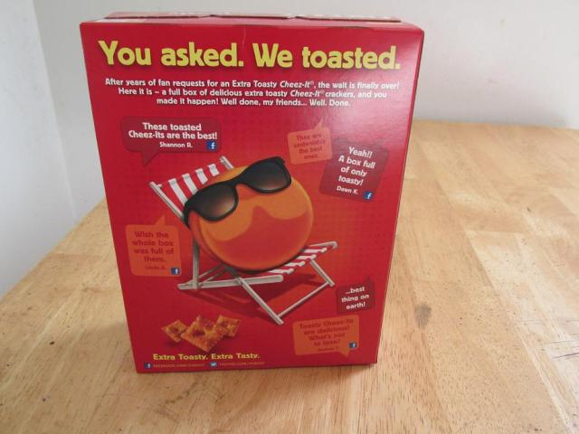 Unfortunately, all of my burnt Cheez It lovers didn't also have the good sense to boycott Facebook...