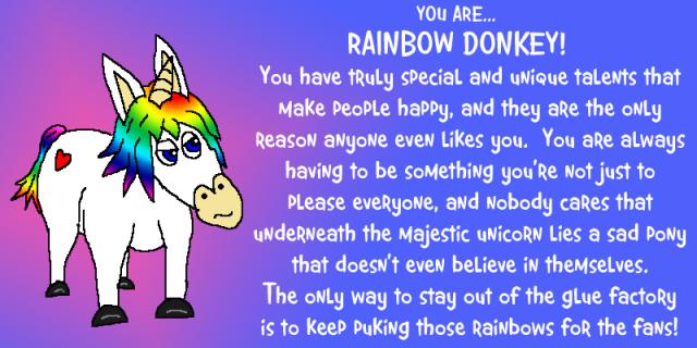 rainbow donkey quiz