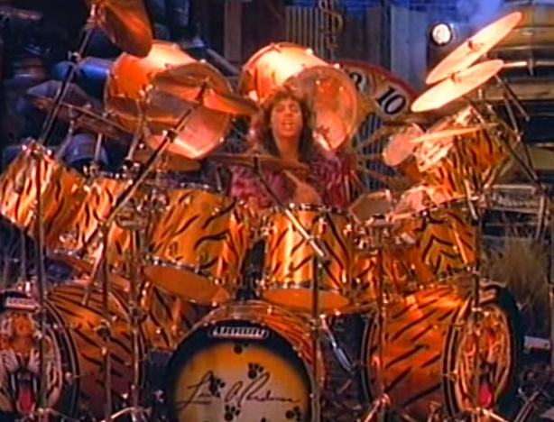 He's also listed as having the World's Most Tiger Themed Drum Set.