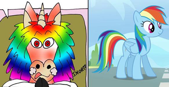 rainbow donkey rainbow dash