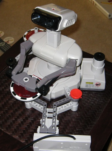 Hi, I'm Super Creepy R.O.B. Robot, and I have Nintendo!