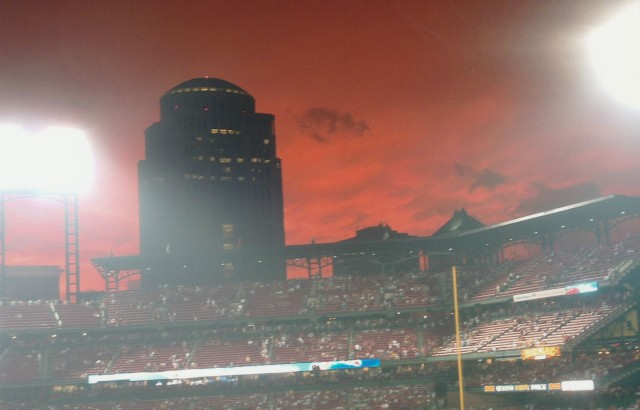 Here's your Fixx of red skies at night.