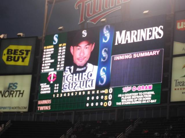 Uh oh... it's a picture of a stadium scoreboard.  Yep, it's a baseball post...