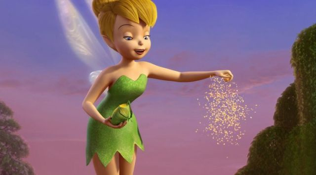 Yeah, that's cute Tinkerbell.  Now go put on some clothes.
