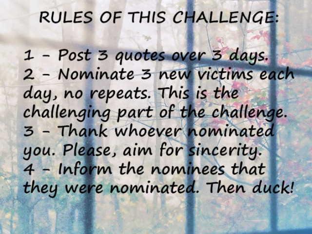 quote challenge rules